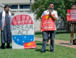 Daniel Olivera looks to bring his experience organizing DREAMers at UT to the University of Houston campus.  The DREAMer population at UH is higher than at UT.  Photo Courtesy: TexasObserver.org