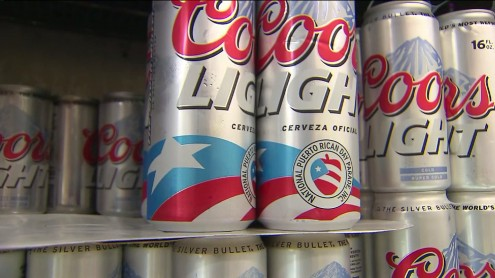 Puerto rican coors beer can national parade